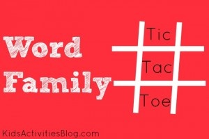 Word Family Tic-Tac-Toe {Reading Game} - Kids Activities Blog
