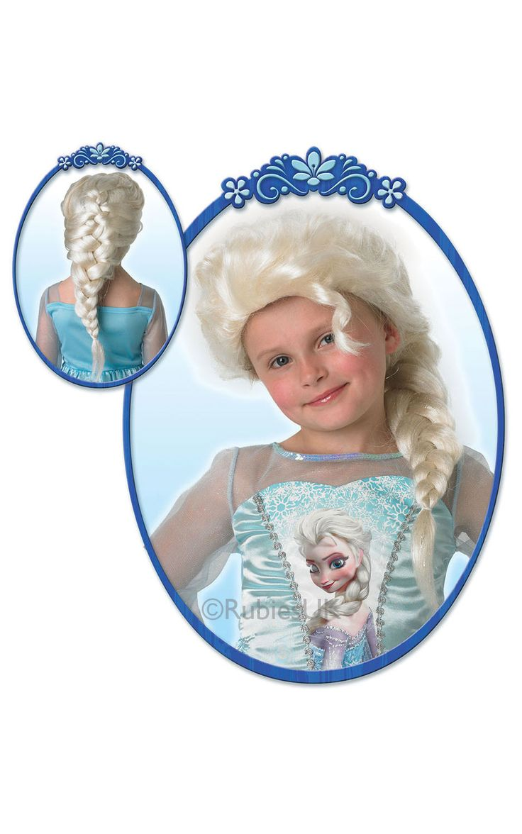 Frozen Elsa -peruukki. Peruukki on lisensioitu Disney Frozen -tuote.