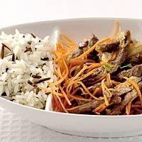 eten recepten vlees Rundvlees Teriyaki wilde rijst
