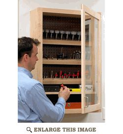 Drill and Router Bit Case, Cabinet Woodworking Plan, Shop Project Plan | WOOD Store