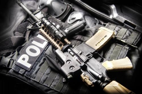 SWAT gear.