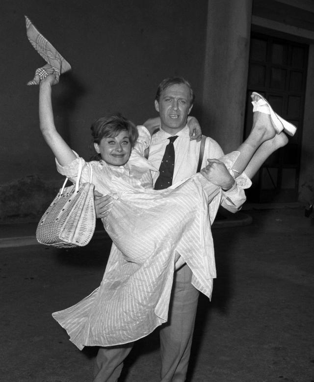 1962 - Le nozze di Sandra Mondaini e Raimondo Vianello (Ansa)