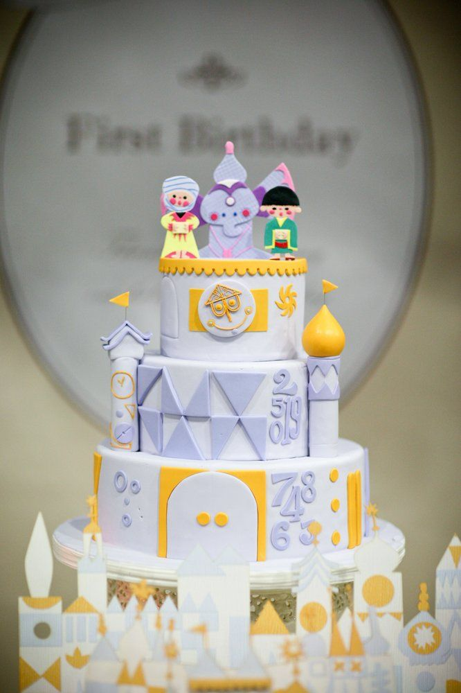 """My son's 1st birthday cake -- """"Its a small world"""" theme. I had a specific design in mind, CC made it come to life! Thanks CC!! 