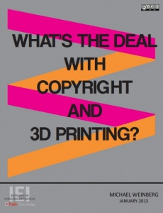 Cover of Whats the Deal with 3D Printing and Copyright