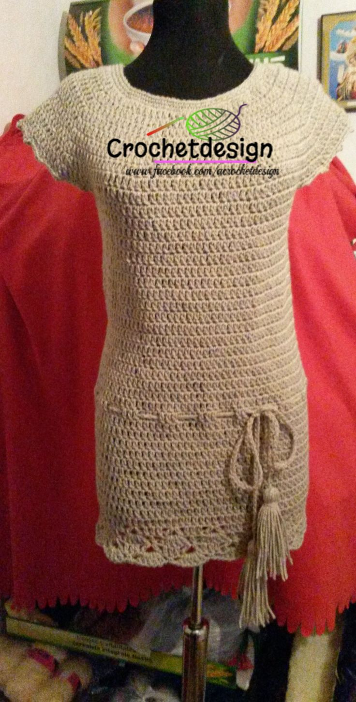 Crochet winter tunic