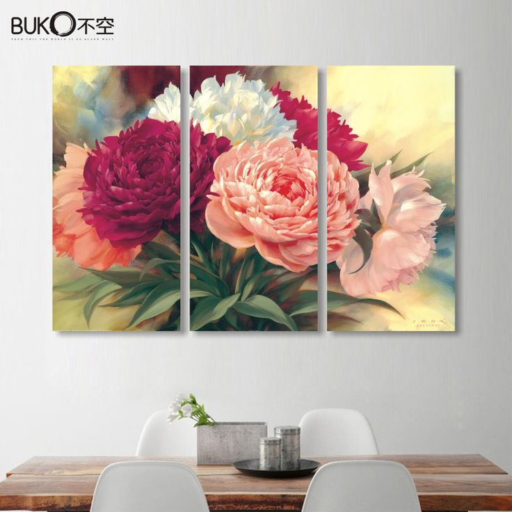 Cheap poster movie, Buy Quality canvas painting directly from China posters babies Suppliers: home decoration Chinese peony flowers canvas painting wall art Beautiful flower picture professional high-definition printing
