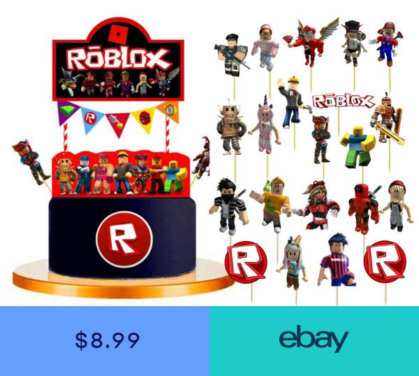 Roblox Cake Toppers Topper Decorations Party Supplies