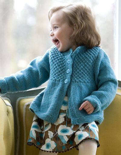 Princess smocked cardigan free pattern