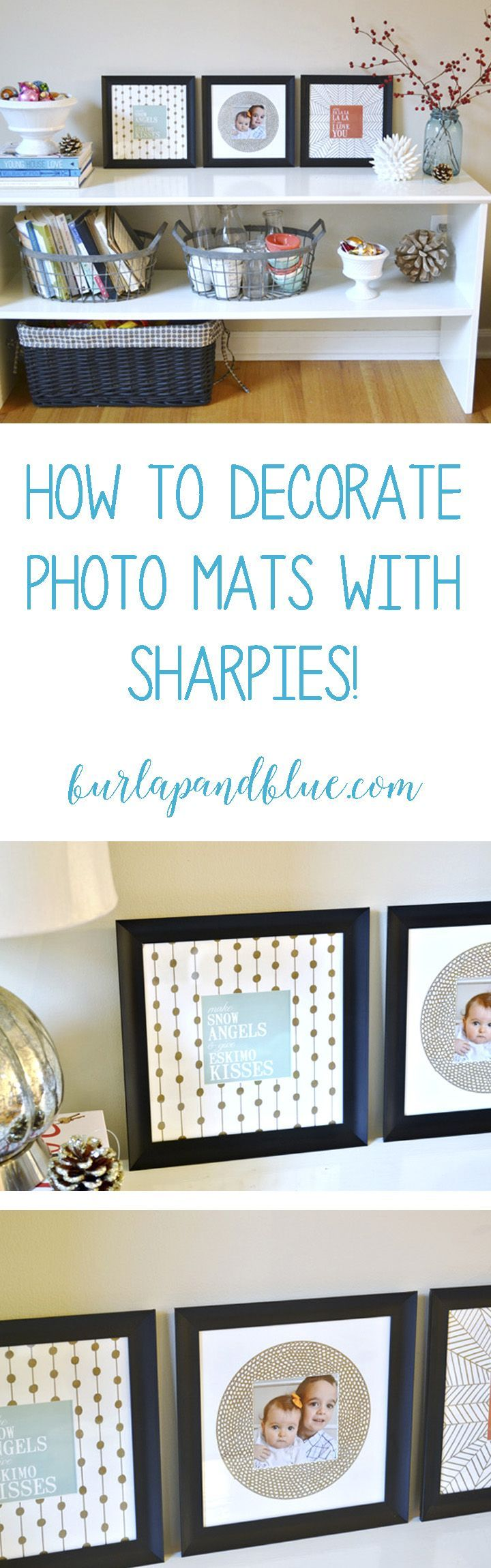 How to decorate picture frame mats with sharpies! Easy sharpie craft!