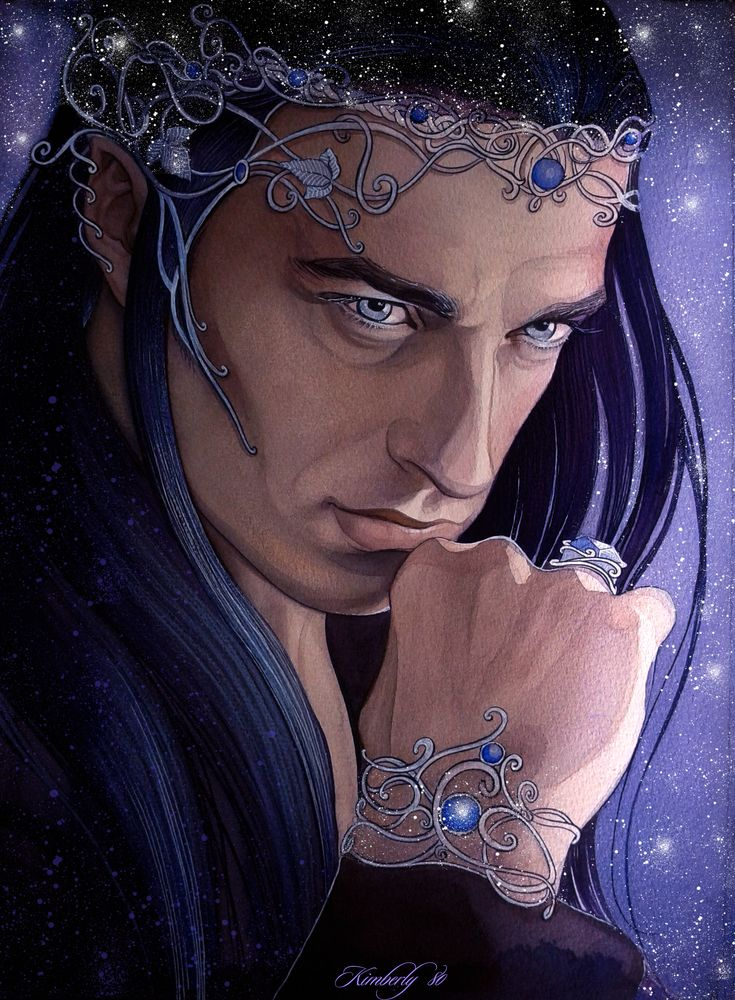 "Thingol Husband of Melian the Maia and father of Luthien, Over a thousand years passed before Elwë appeared again with his bride Melian. They founded the Kingdom of Doriath. His subjects would become the Sindar, or ""Grey Elves"" From then on Elwë was known as King Elu Thingol, and he claimed lordship over all the lands in Beleriand."