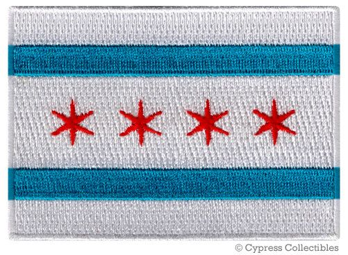 CHICAGO CITY Flag PATCH iron-on embroidered applique Top Quality by SouvenirPatch on Etsy https://www.etsy.com/listing/198414020/chicago-city-flag-patch-iron-on