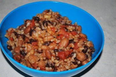 """Spicy Beans and Rice """"E"""" meal"""