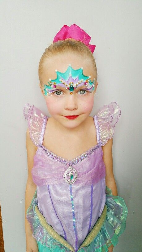 Ariel Mermaid facepaint done by fancifulfacepainting  so cute!
