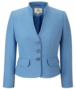 Petite Cornflower Tweedy Jacket