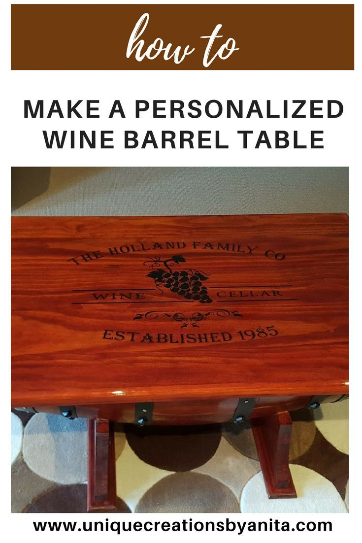 how to make a barrel table