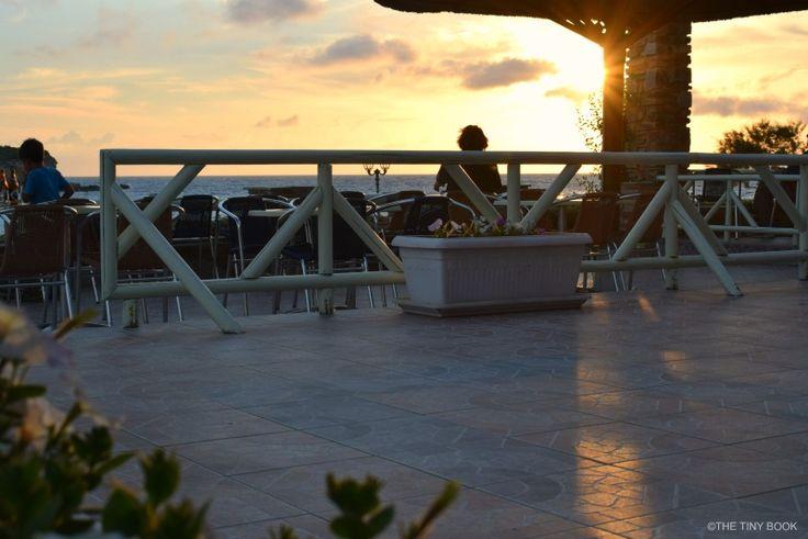 Sifneiko cafe.. sunset in Antiparos - Antiparos the other way round