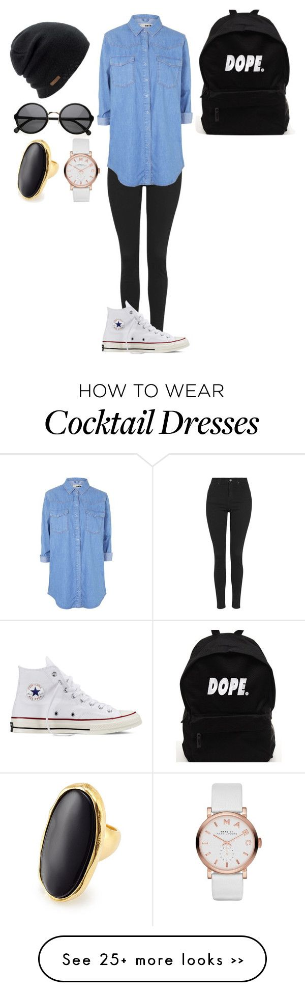 """Untitled #91"" by samanta-gudonyte on Polyvore featuring Topshop, Converse, Coal, Marc by Marc Jacobs and Kenneth Jay Lane"