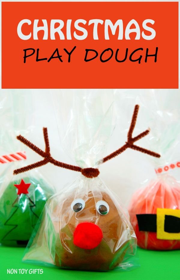 Make This Fun Christmas Play Dough And Decorate It To Look Like Santa,  Christmas Tree And Reindeer. Great Winter Activity Or DIY Stocking Stuffer.