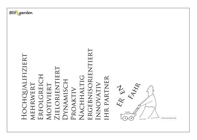 Nick Blitzgarden Cartoon für Menschenkenner-Mkt. Oli Kock - Phrasenmäher in der Unternehmens- und Marken-Kommunikation