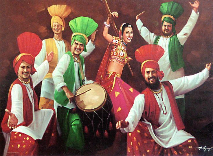 Old Punjabi Culture : Bhangra Dance from Punjab
