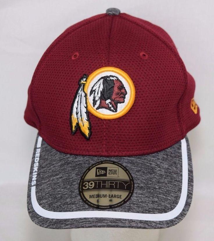 Washington Redskins Hat Training Cap Mens Medium Large NFL New Era 39 Thirty #NewEra #WashingtonRedskins