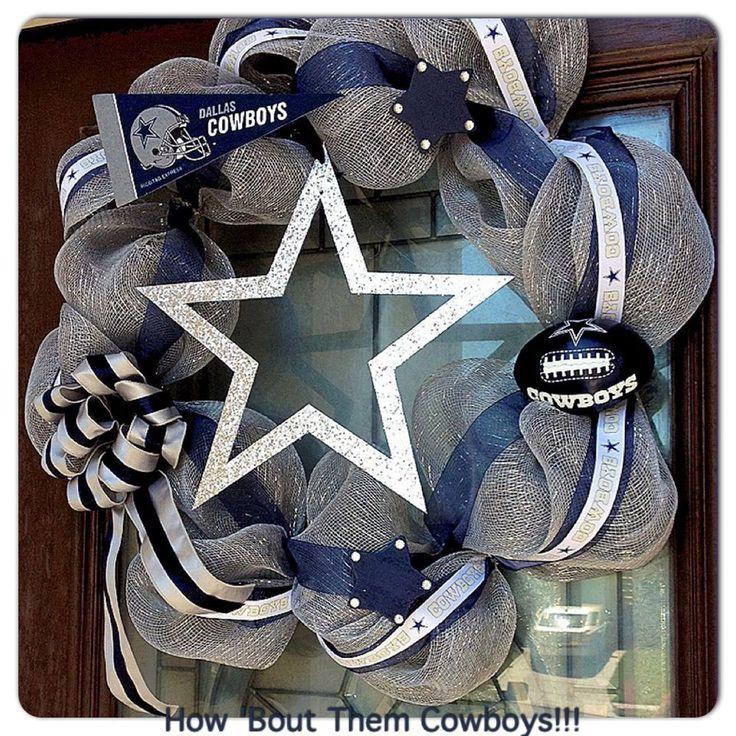 Dallas Cowboys deco mesh wreath.
