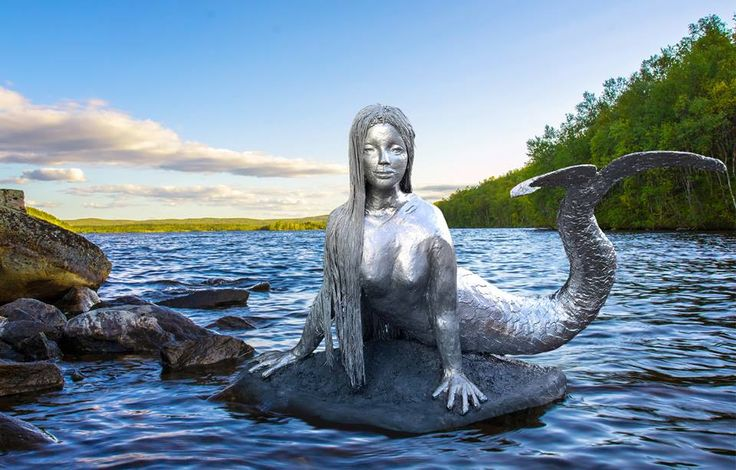 My sculpture 'Sirena of the Lake' Now exhibited at Delamore Arts at Cornwood south Devon