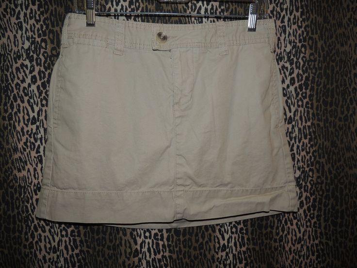 Gap Women's Khakis Favorite Chino Mini 5 PKT Biege Khaki Skirt Size 6 HOT &Sexy #GAP #FavoriteChinoMini
