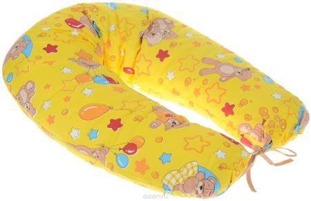 """Фэст Подушка для беременных и кормящих мам Мишки  — 974р. ------ Подушка для беременных и кормящих мам Фэст """"Мишки"""" - многофункциональная подушка, обеспечивающая комфорт мамы и малыша. В период беременности ее удобно использовать, подкладывая под живот или спину. Для уменьшения нагрузки на спину, плечи, руки и шею во время кормления расположите подушку вокруг талии. Для поддержания ребенка в разных положениях и зашиты его от падения следует поместить малыша в центр подушки. Чехол подушки…"""