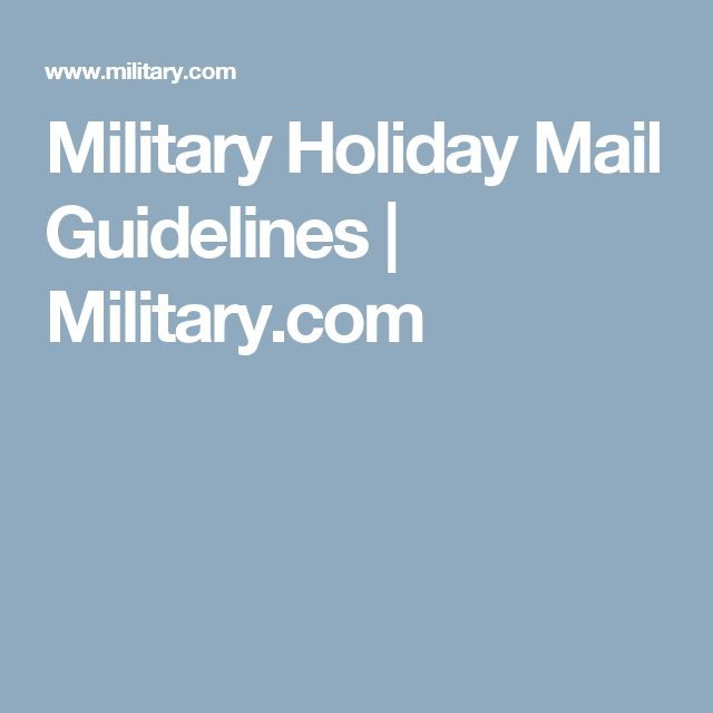 Military Holiday Mail Guidelines | Military.com