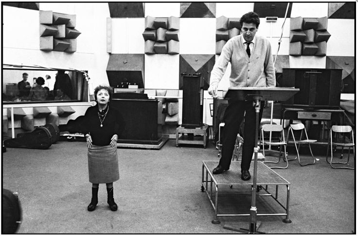 Édith Piaf and Mikis Theodorakis by Daniel Angeli
