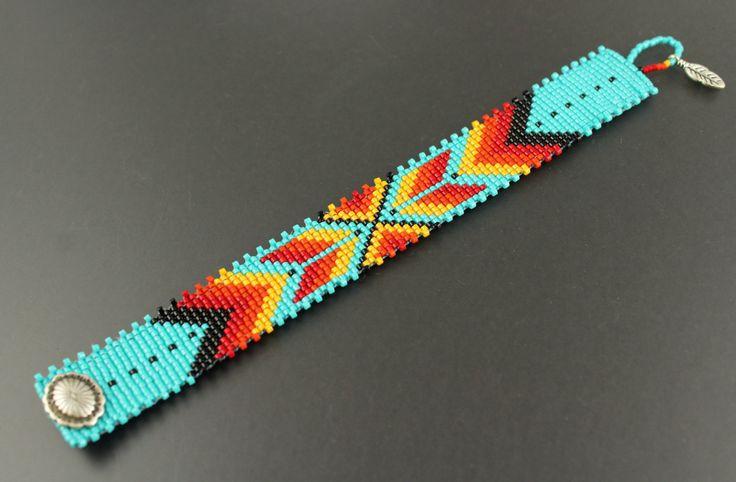 Sunshine...Bracelet.Miyuki Delica Seed Beads.Native American