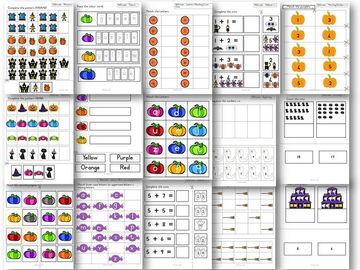 This bundle contains the following worksheets to work on varying skills. Each set has differentiated levels as well:  Addition  Alphabet  Colours  Counting 1-20  Numbers  Patterns