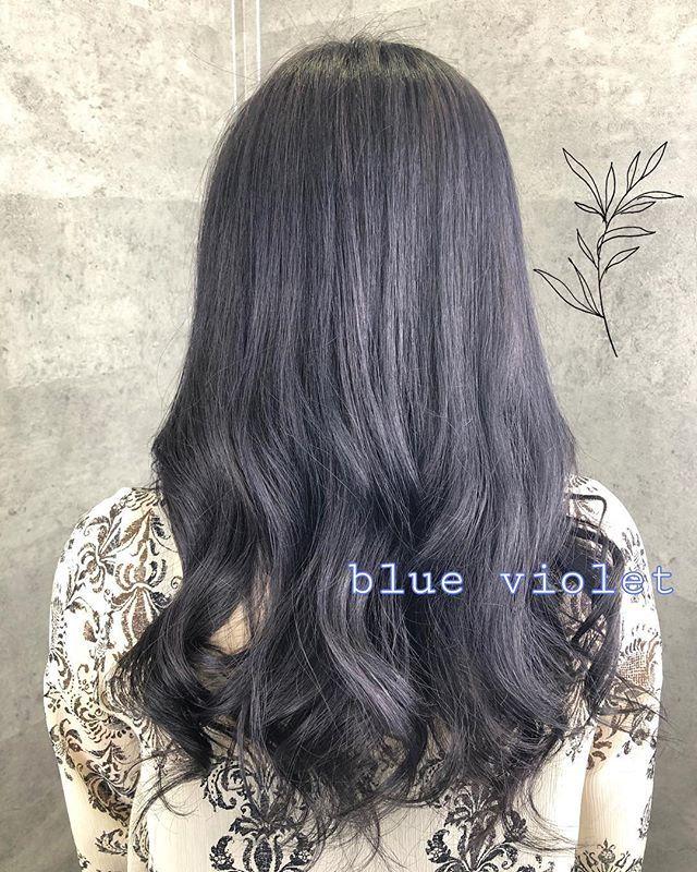 ブルーバイオレット 赤味のない濃厚なブルーバイオレット 黒