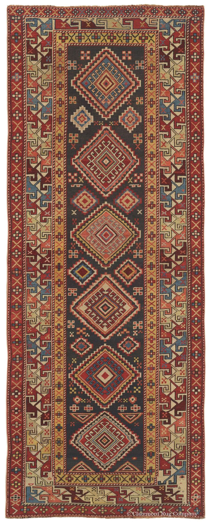 SHIRVAN, Southeast Caucasian 3ft 2in x 8ft 2in Circa 1875