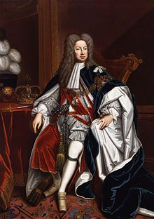 King George I. George Louis 28 May 1660 - 11 June 1727. At 54 after death of Queen Anne, ascended British Throne, first monarch of House of Hanover. Jacobites attempted to replace him with Anne's Catholic half brother James Stuart, but attempts failed.