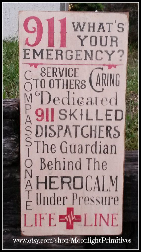 911 Police Dispatchers Emergency by MoonlightPrimitives on Etsy