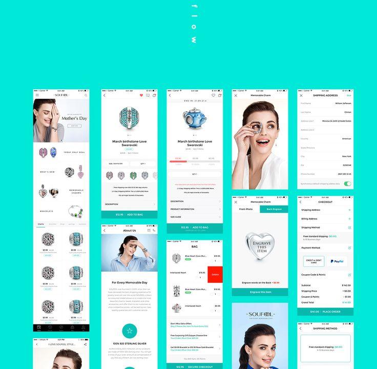 Soufeel Jewelry Ui & App on Behance