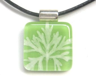 Hand painted fused glass pendant (fg217)