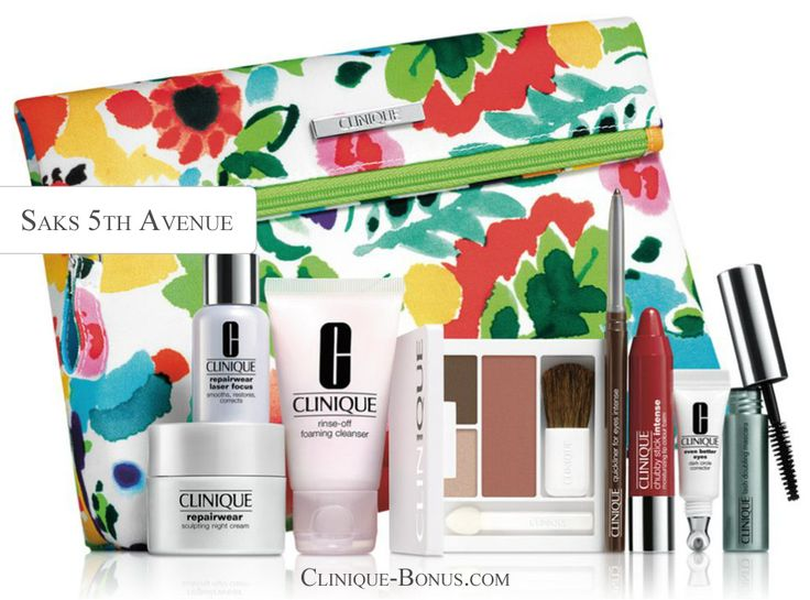 Receive this complimentary Clinique gift at Saks 5th Avenue. Use coupon code CLINIQ52 http://clinique-bonus.com/other-us-stores/
