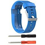 GBSELL Replacement Silicone Band Rubber Strap Wristband Bracelet with Screw Driver For Fitbit Charge HR Small (Sky blue) - http://www.painlessdiet.com/gbsell-replacement-silicone-band-rubber-strap-wristband-bracelet-with-screw-driver-for-fitbit-charge-hr-small-sky-blue/