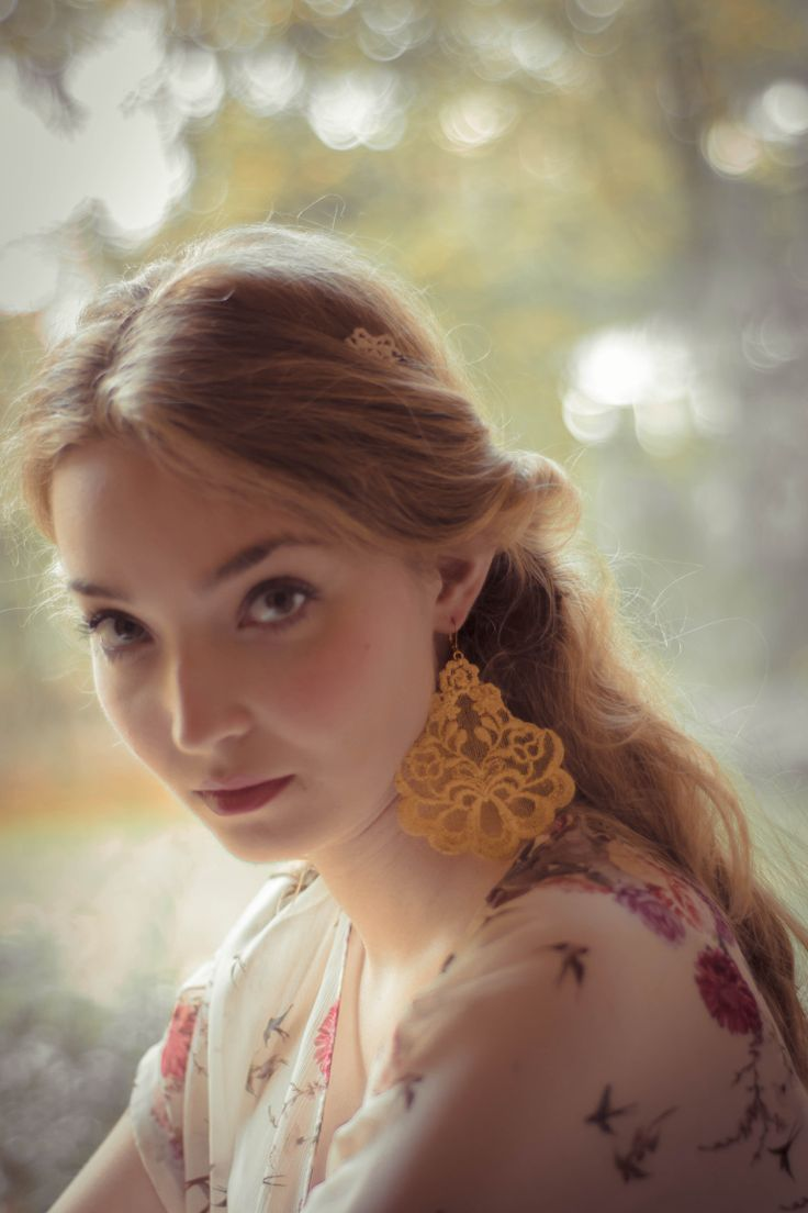 Oleandro lace earrings