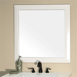 Bathroom 31 5 Square Wood Frame Mirror With White Finish Free Shipping 198 00