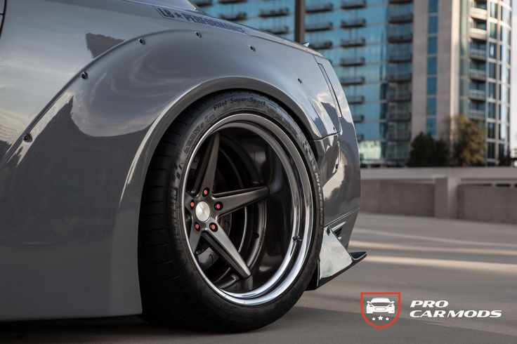 "20"" Vossen Work VWS3 on Nissan GT-R with liberty walk widebody https://procarmods.com/projects/libertywalk-nissan-gtr-black-edition/#"