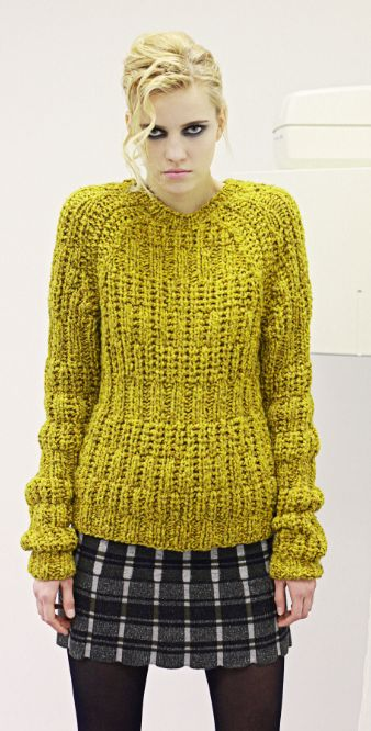 To choose chartreuse can be a rebellious choice. fashion:knits - Brooke Roberts