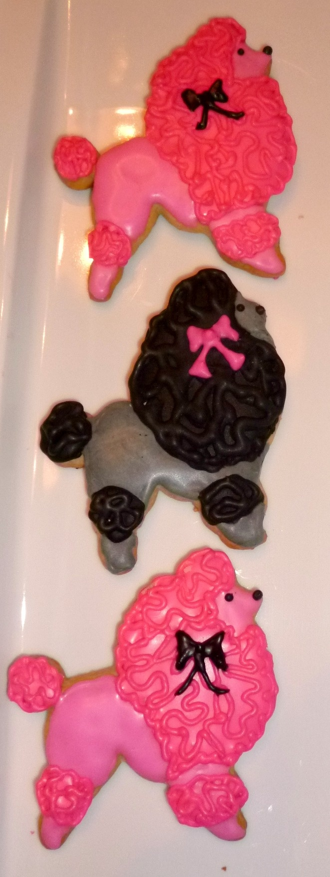 Pink & Black Poodle Cookies by D'lish Cupcake Lounge