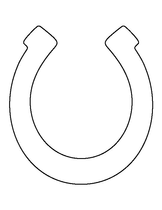 Horseshoe pattern. Use the printable outline for crafts, creating stencils, scrapbooking, and more. Free PDF template to download and print at http://patternuniverse.com/download/horseshoe-pattern/