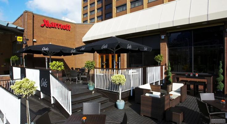 Cardiff Marriott Hotel Cardiff This 4-star luxury hotel is in Cardiff's city centre, 300 metres from Cardiff Central Rail Station. It has air-conditioned rooms, an award-winning restaurant and a fitness club with indoor pool. Complimentary Wi-Fi is available in the public areas.