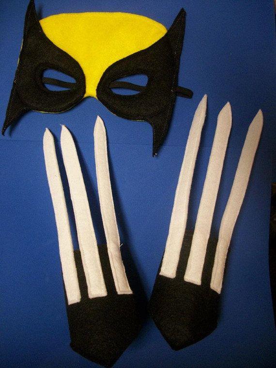 Wolverine Magneto Super Hero Villain felt masks
