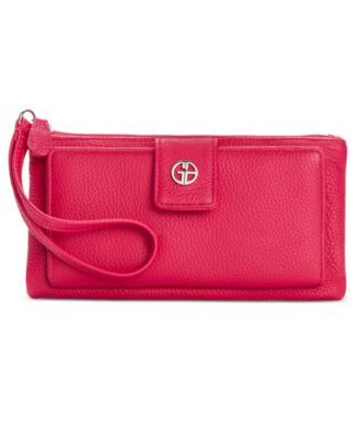 Giani Bernini Softy Grab & Go Leather Wallet & Wristlet, Created for Macy's $18.93 Everything you need in one handy pouch: the Grab & Go wallet contains plenty of pockets for easy on-the-go storage. By Giani Bernini.